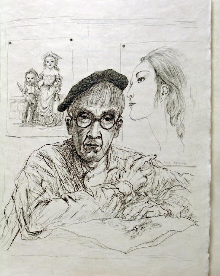 René Héron de Villefosse, La Rivière enchantée, eaux-fortes de Foujita,Paris, Klein, 1951, autoportrait de Foujita.Saint-Étienne, 25 janvier 2007,Hôte
