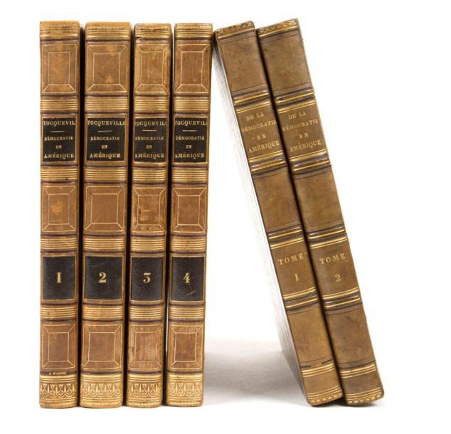 9500€ Alexis de Tocqueville (1805-1859), De la démocratie en Amérique, Paris, Gosselin, Coquebert, 1838-1840, édition originale (vol.3 et 4), sixiè
