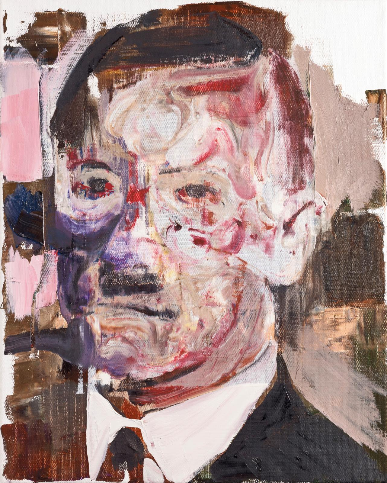 Adrian Ghenie (né en 1977), Untitled, 2011, huile sur toile.