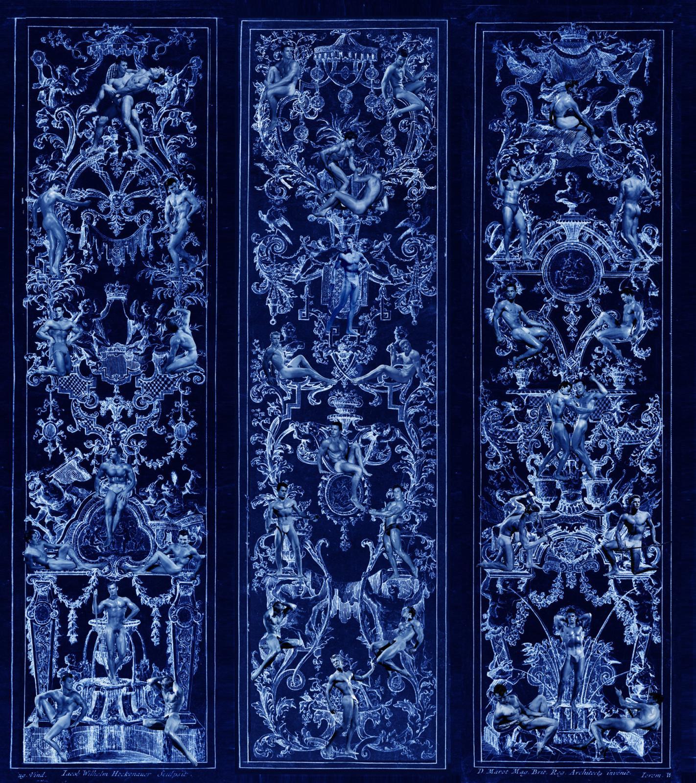 Papier peint, impression numérique, conçu par Jean-Louis Gaillemin. DR