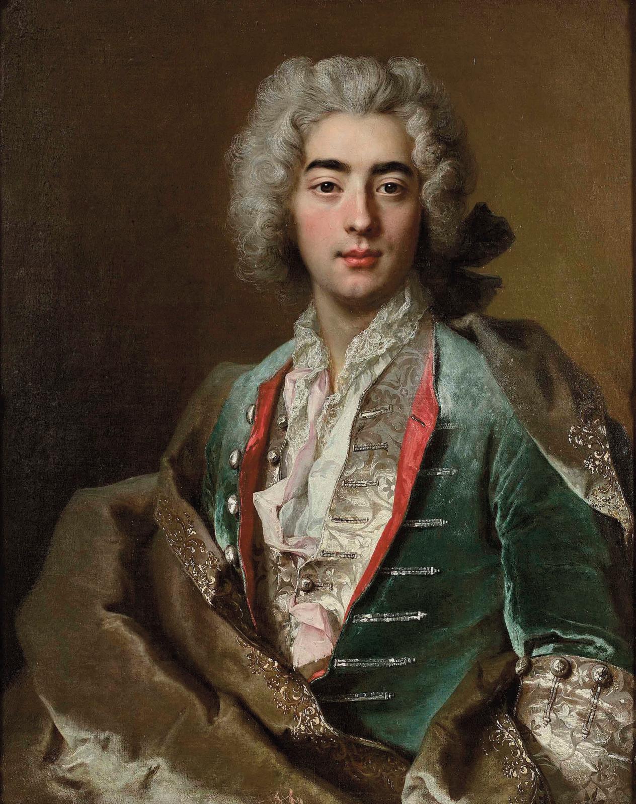 Nicolas deLargillière (1656-1746), Portrait présumé de Jean André Soubry (1703-1774), huile sur toile, 81x65cm. Estimation: 30000/40000€