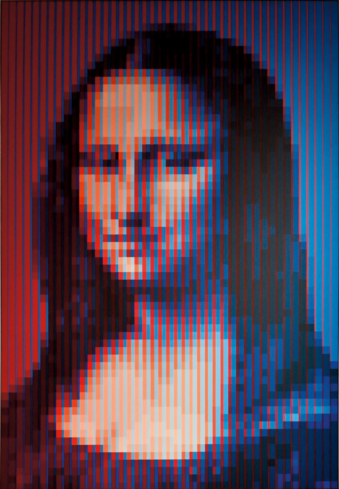 Yvaral (1934-2002), Mona Lisa Synthétique,toile, 1979, 196x130cm. Adjugé: 19200€