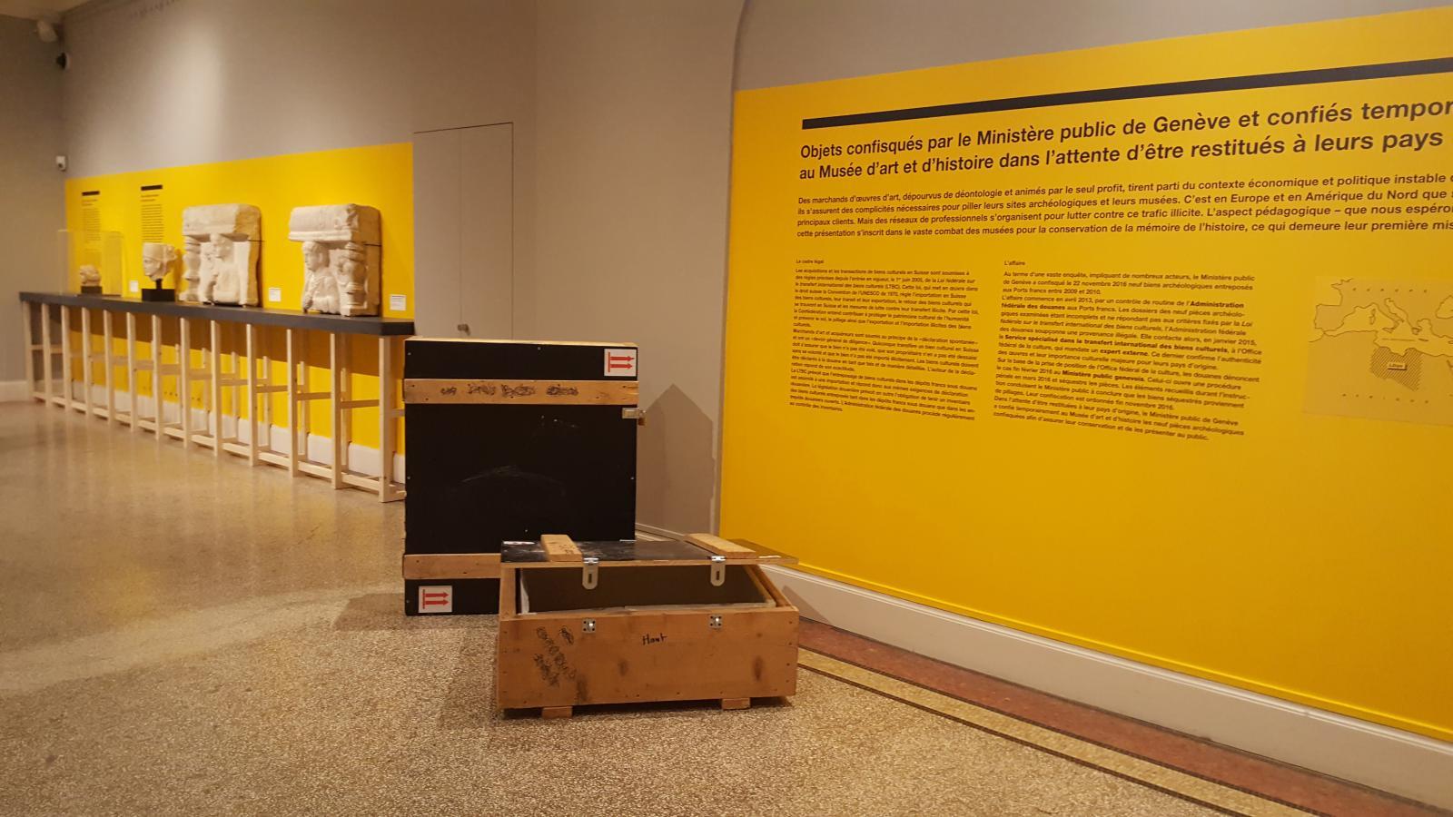 L'exposition d'objets issus du trafic illicite au musée d'Art et d'Histoire de Genève.