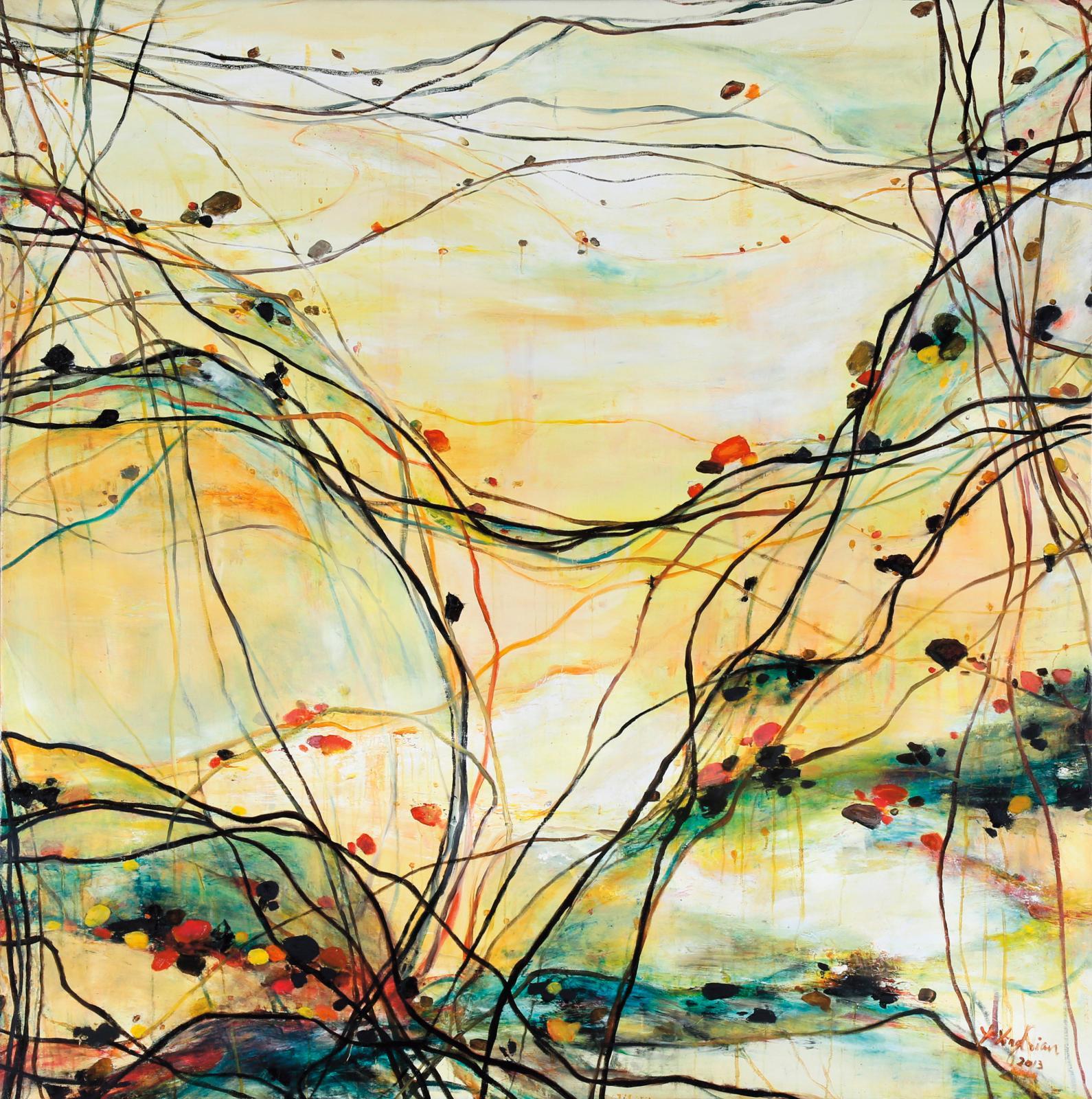 La Vie, 2013, huile sur toile, 175 x 175 cm.