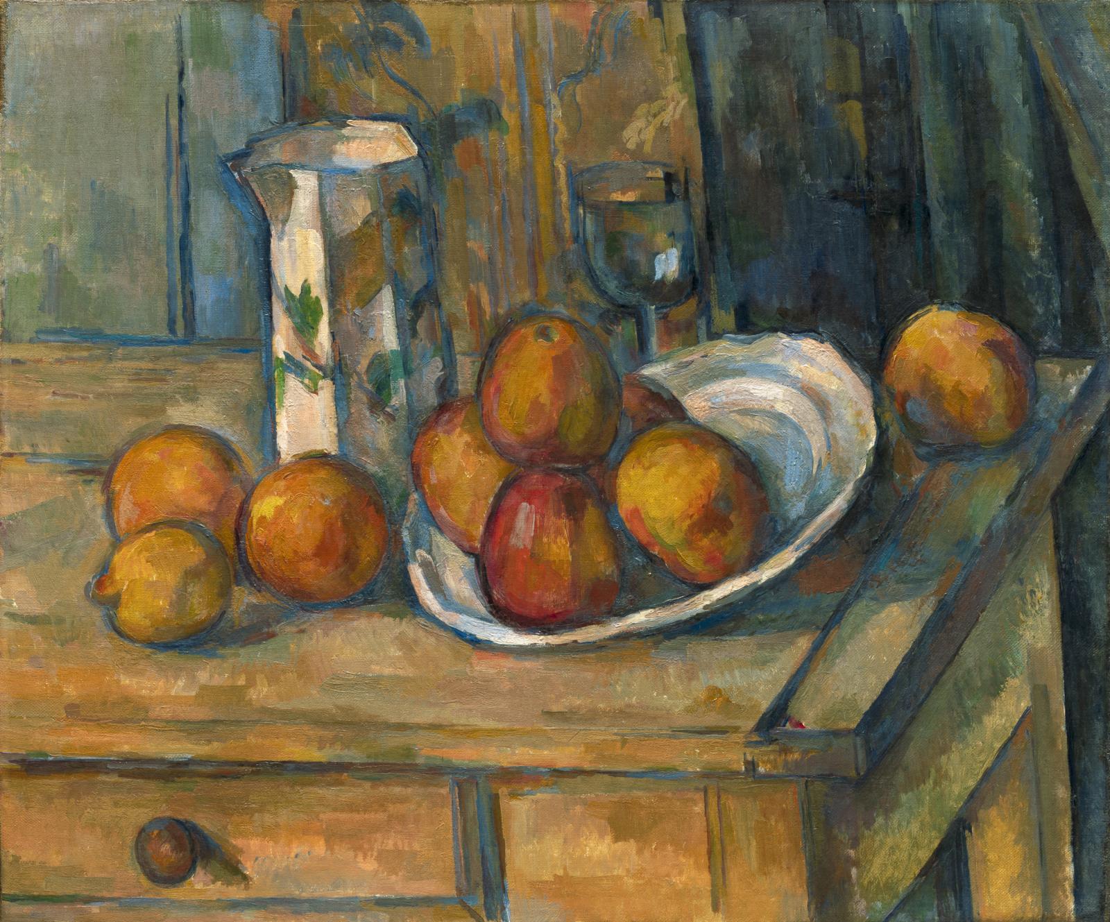PAGE DE GAUCHE Paul Cézanne, Nature morte, pot à lait et fruits, vers 1900, huile sur toile, 45,8x54,9cm, Washington, National Gallery of Art. © Co