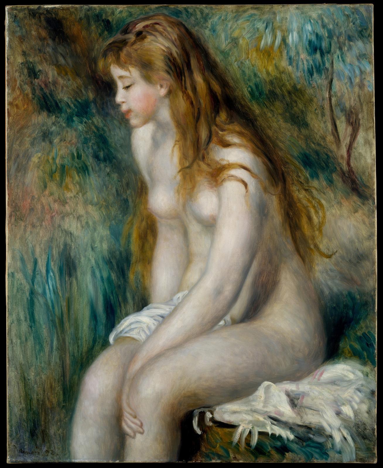 Pierre-Auguste Renoir, Jeune fille au bain, 1892, huile sur toile, 81,3x64,8cm, NewYork, The Metropolitan Museum of Art, Robert Lehman Collection.