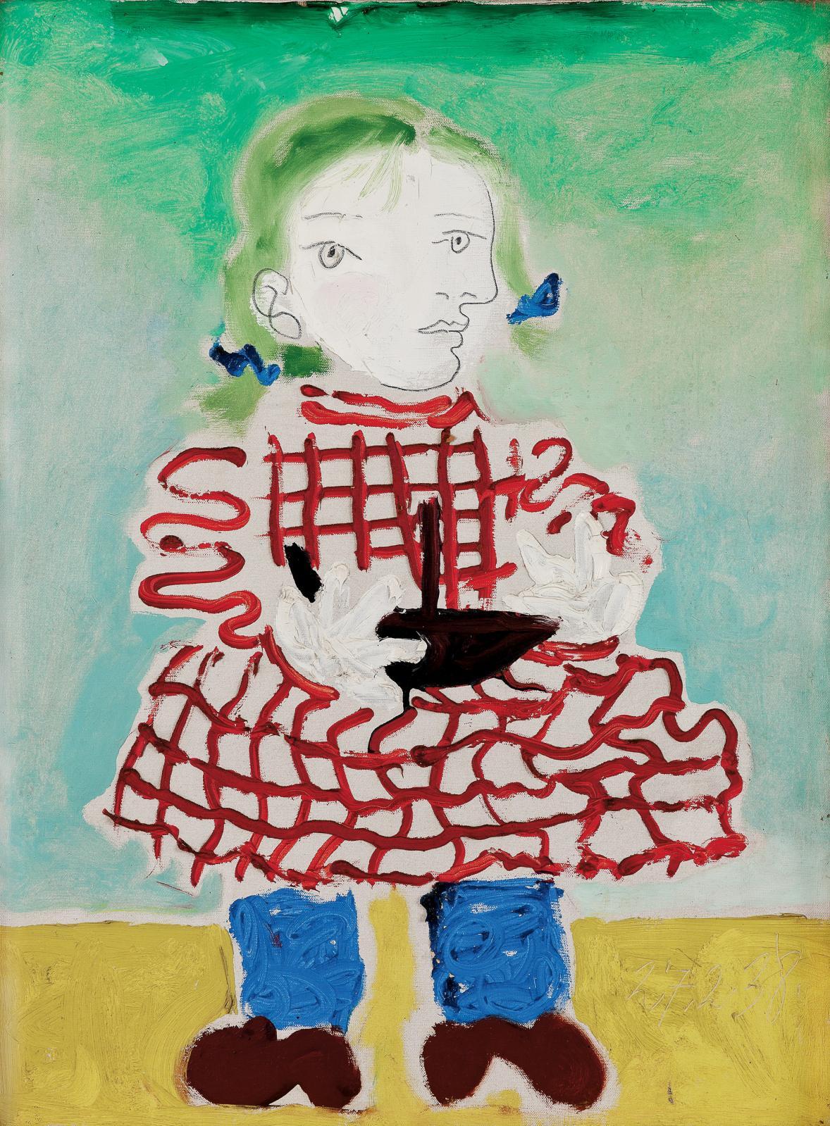Pablo PICASSO (1881-1973), Maya au tablier, 1938.La fille de Picasso a alors 3 ans.