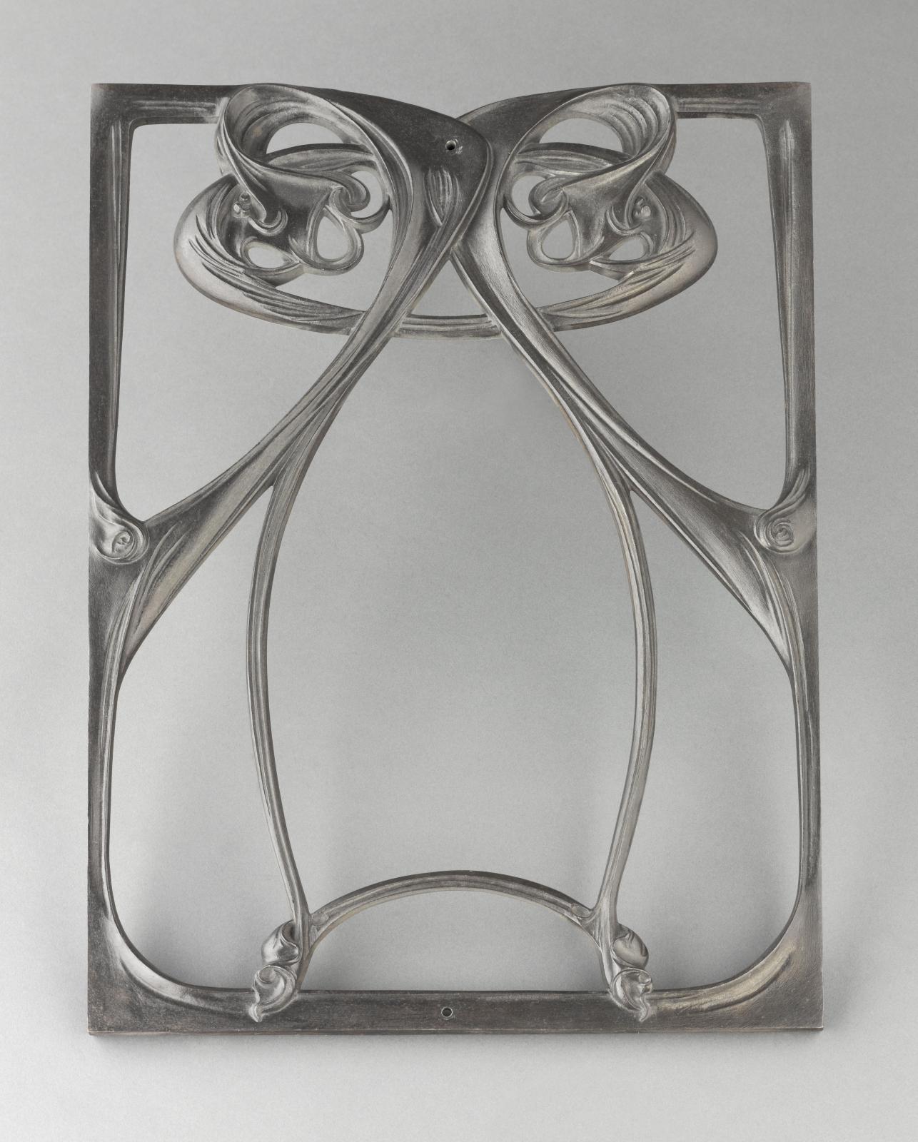 Hector Guimard, motif de balcon de croisée, entre 1905 et 1907, fonte, 51 x 38,7cm, musée d'Orsay. © RMN-Grand Palais (musée d'Orsay) / Stéphane Maré