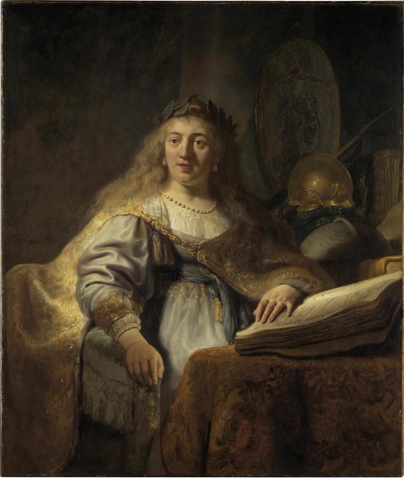 Rembrandt van Rijn, dit Rembrandt (1606-1669) Minerve, 1635, huile sur toile, 138x116,5cm. © New York, collection Leiden