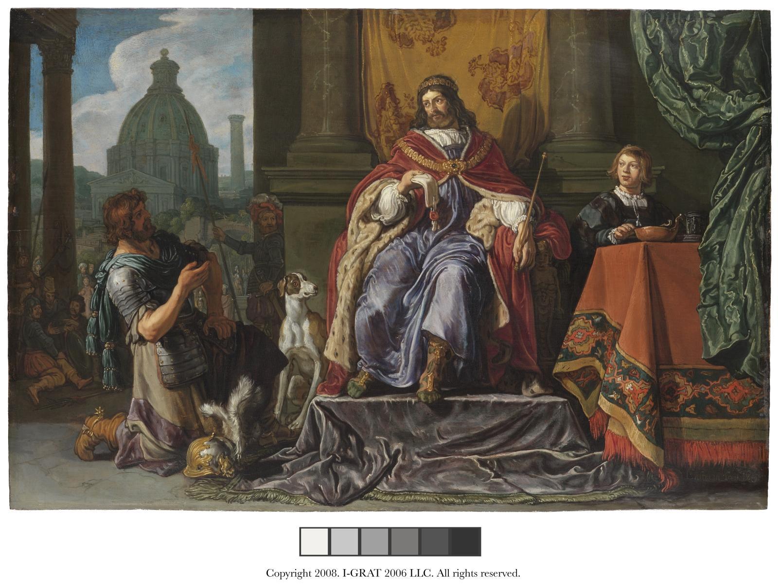 Pieter Lastman (1583-1633), David donne à Urie une lettre pour Joab, 1619, huile sur panneau, 42,9x63,3cm.