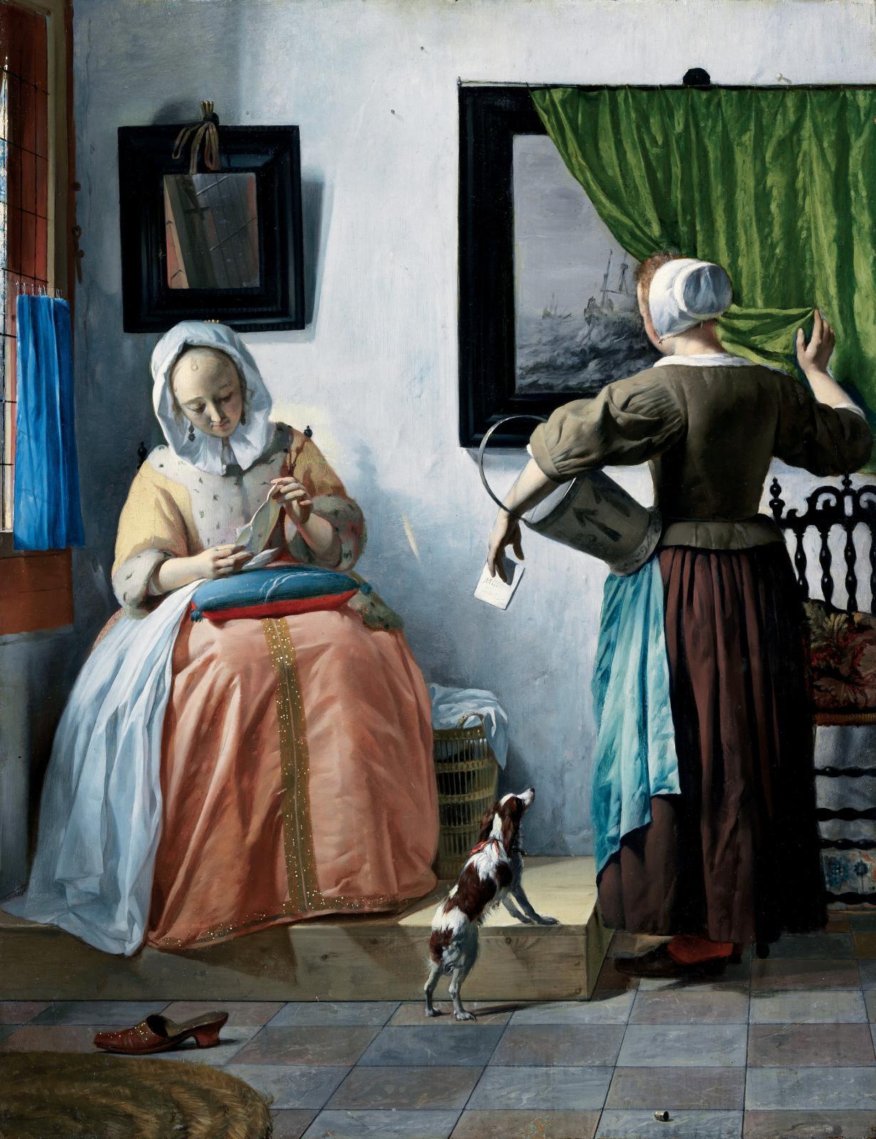 Gabriel Metsu, Jeune femme lisant une lettre, 1664-1666, huile sur panneau, 52,5x40,2cm, Dublin, National Gallery of Ireland, Sir Alfred and Lady B
