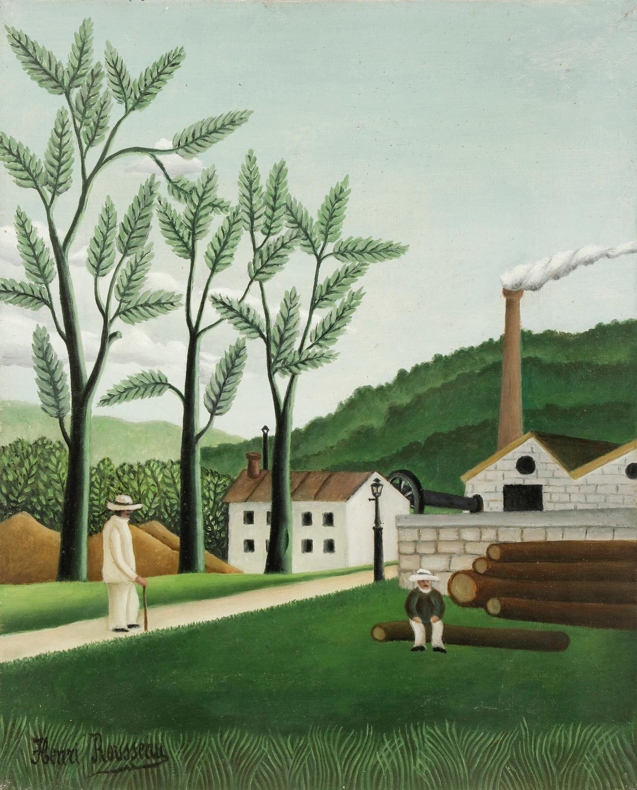 Henri Rousseau, aka Le Douanier Rousseau (1844-1910), La Scierie de Bièvres (The Bièvres Sawmill), oil on canvas, 41 x 33 cm.Estimate: €100,000/150,00