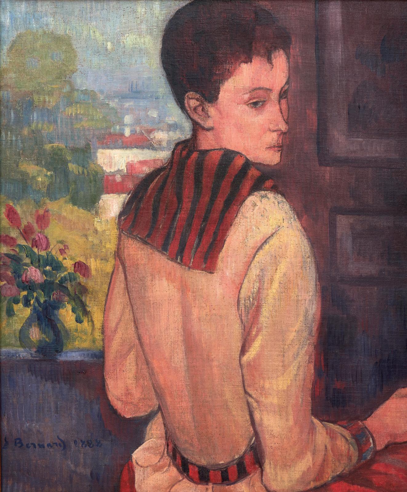Émile Bernard (1868-1941), Portrait de madame Schuffenecker, 1888, huile sur toile, 66x53,5cm (détail). © Photo Bernard Galéron