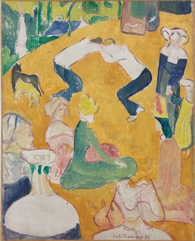 Émile Bernard (1868-1941), Les Lutteurs bretons, 1889, huile sur toile, 65,5x80,7cm (détail). © Photo Pierre-Yves Dhinaut