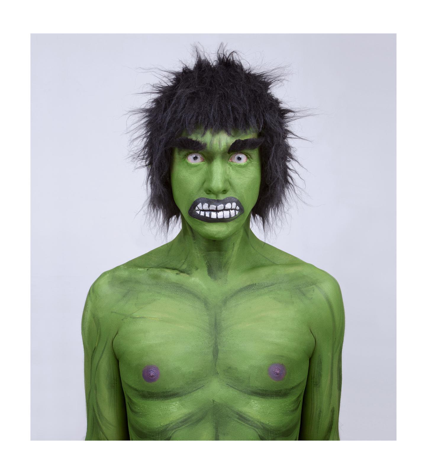 Juan Pablo Echeverri, Hulk, série «Supersonas», 2011. Exposition «La Vuelta, 28photographes et artistes colombiens». Avec l'aimable autorisation de l