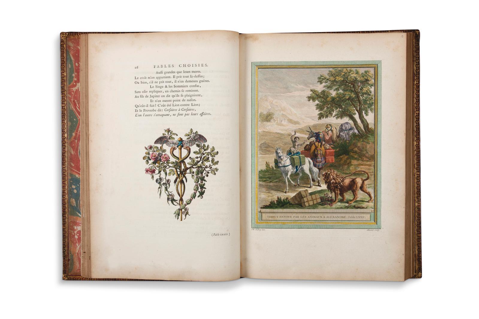 Jean de La Fontaine (1621-1695), Jean-Baptiste Oudry (1686-1755), Fables choisies, Paris, Chez Desaint &Saillant, Durand, de l'Imprimerie de Charles-