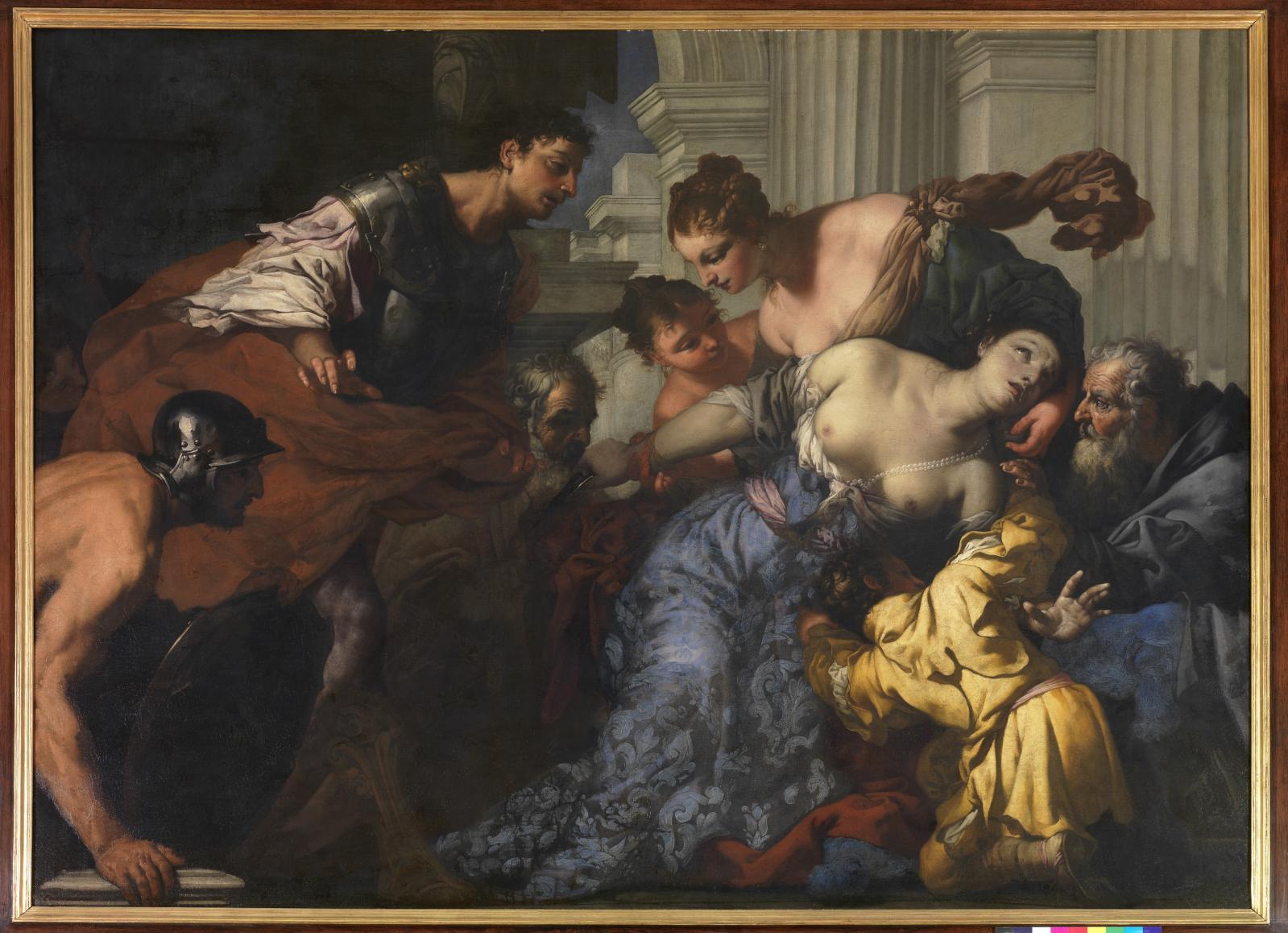 Antonio Zanchi, La Mort de Lucrèce, vers 1670, Saint-Quentin, musée Antoine Lécuyer. ©Musée Antoine-Lécuyer, Saint-Quentin/Gérard Dufrêne