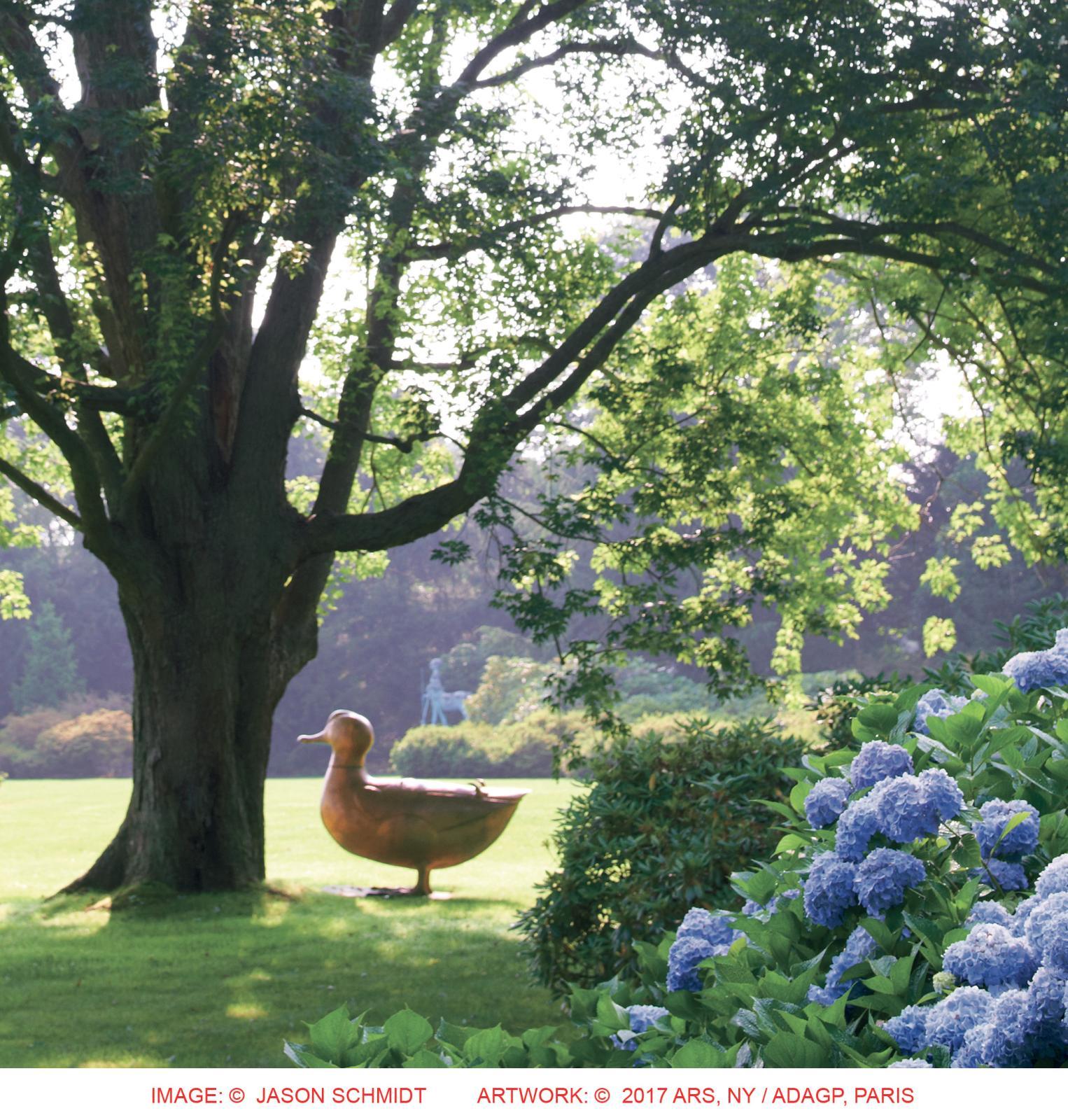 Grand Canard de François-Xavier Lalanne, une des 42 sculptures du parc. © Jason Schmidt