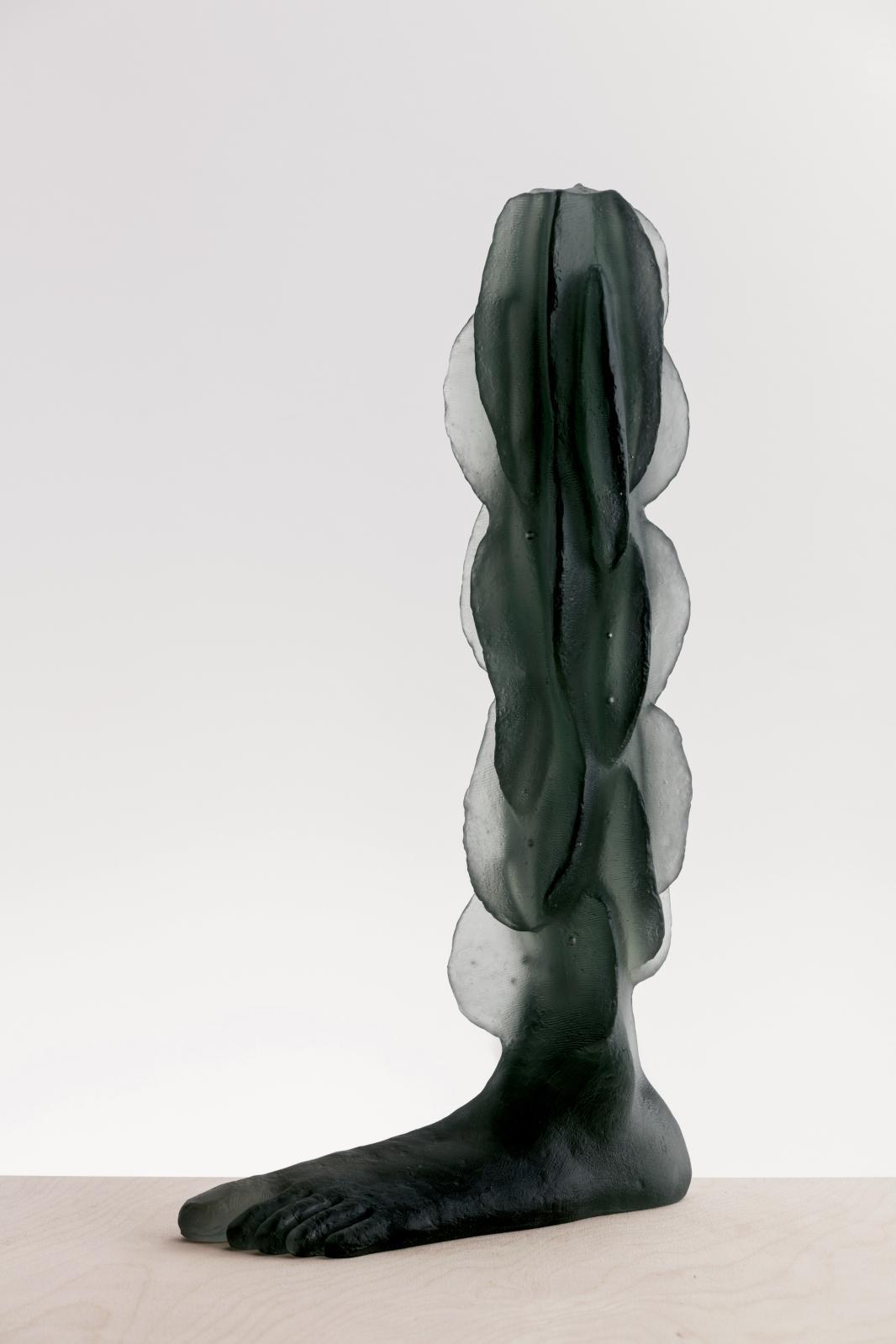 Lene Bødker (née en 1958), Foot on the Ground, 2013-1016, verre, 53,5x28,5x12cm