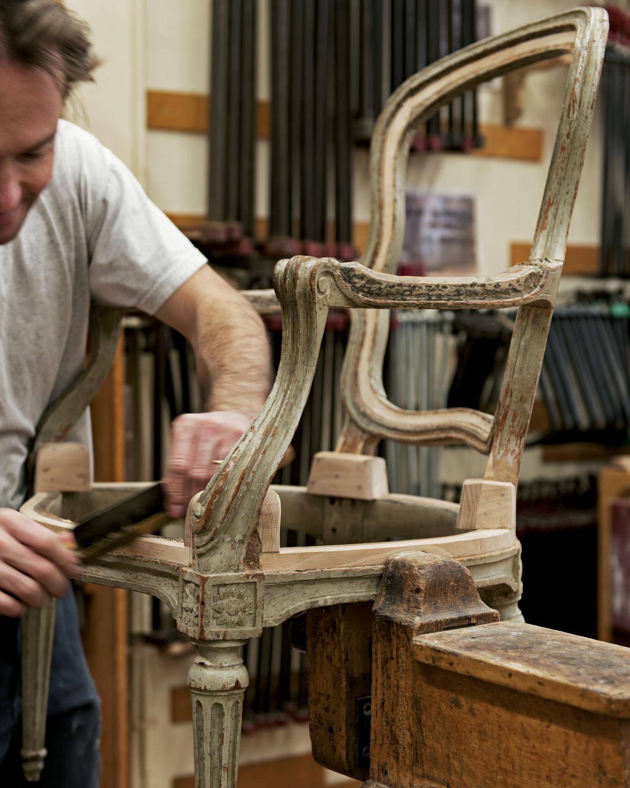 L'atelier Menuiserie en sièges. © Vincent LEROUX