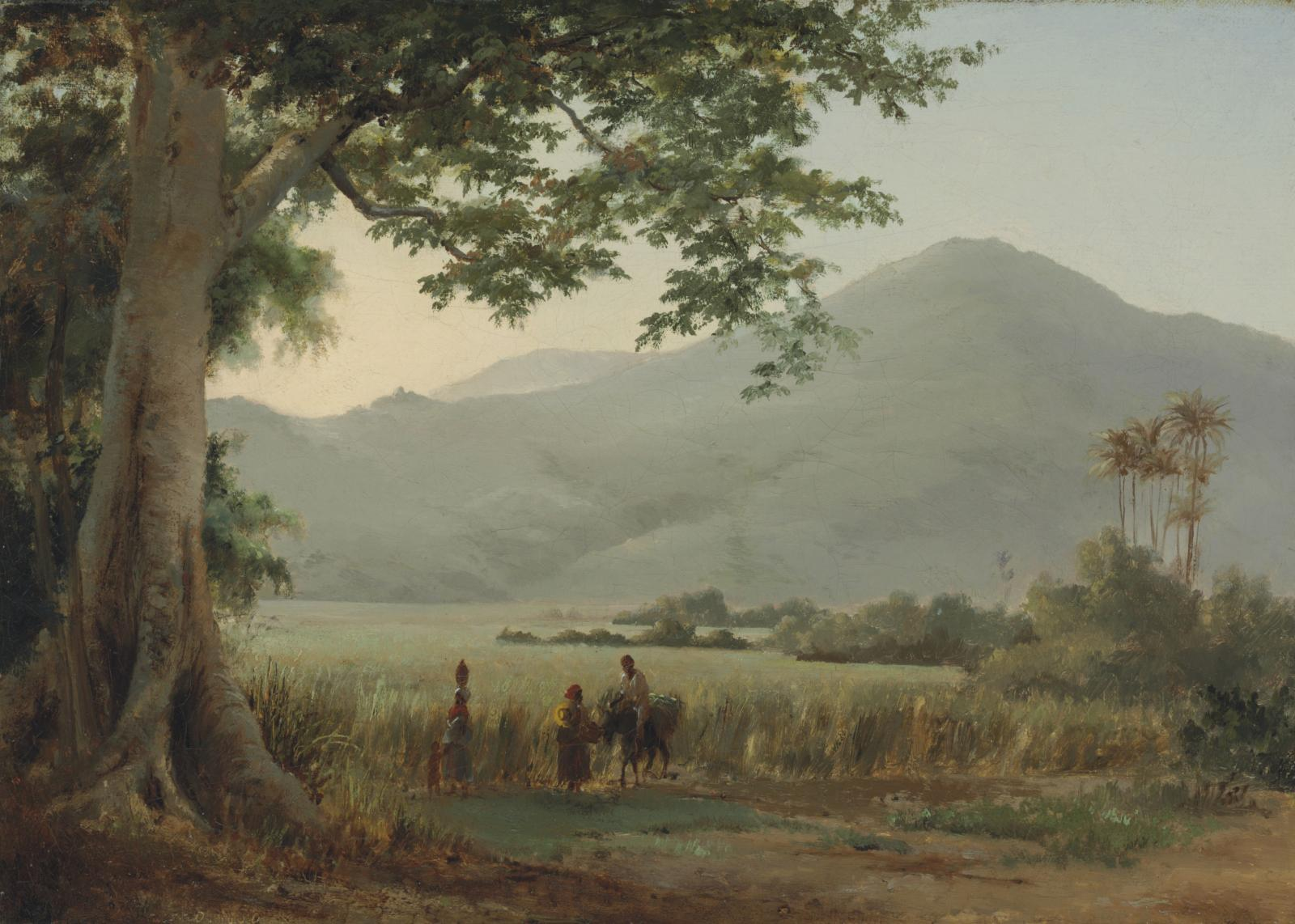 Paysage, Saint Thomas, 1856, huile sur toile, 46,3 x 38 cm. Virginia Museum of Fine Arts, Richmond. © Collection of Mr. and Mrs. Paul Mellon