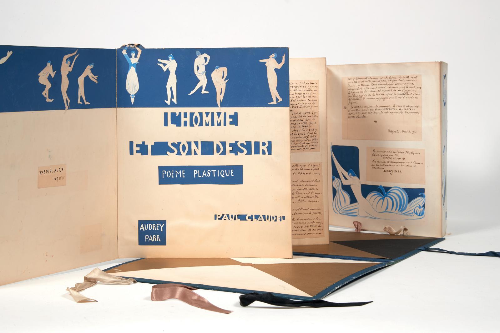 Paul Claudel (1868-1955), L'Homme et son désir, Petropolis, 1917. Édition originale confectionnée à une cinquantaine d'exemplaires par Audrey Parr(18
