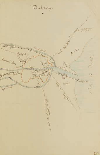 14375€Jules Verne (1828-1905), Dublin, de trois dessins originaux préparatoires pour P'tit Bonhomme (1893), cartes et notes autographes, deux signée