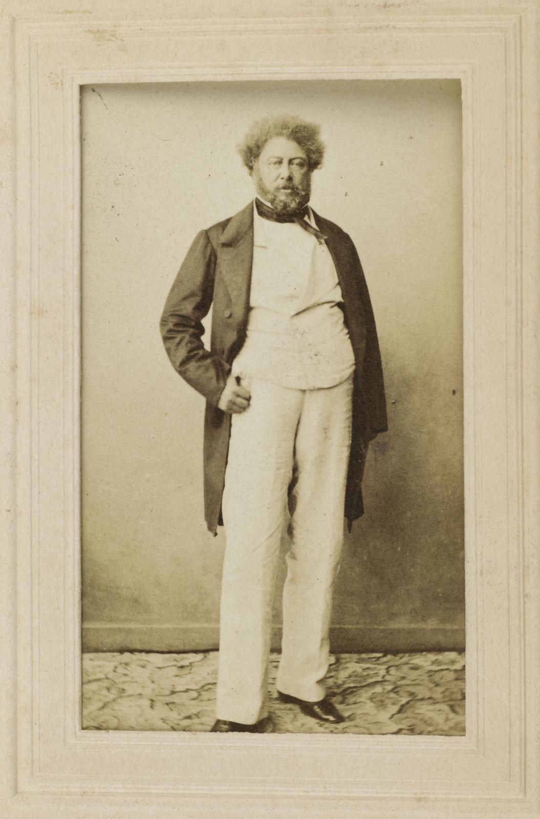Portrait d'Alexandre Dumas par Gustave Legray, vers 1860, collection Société des Amis d'Alexandre Dumas. DR