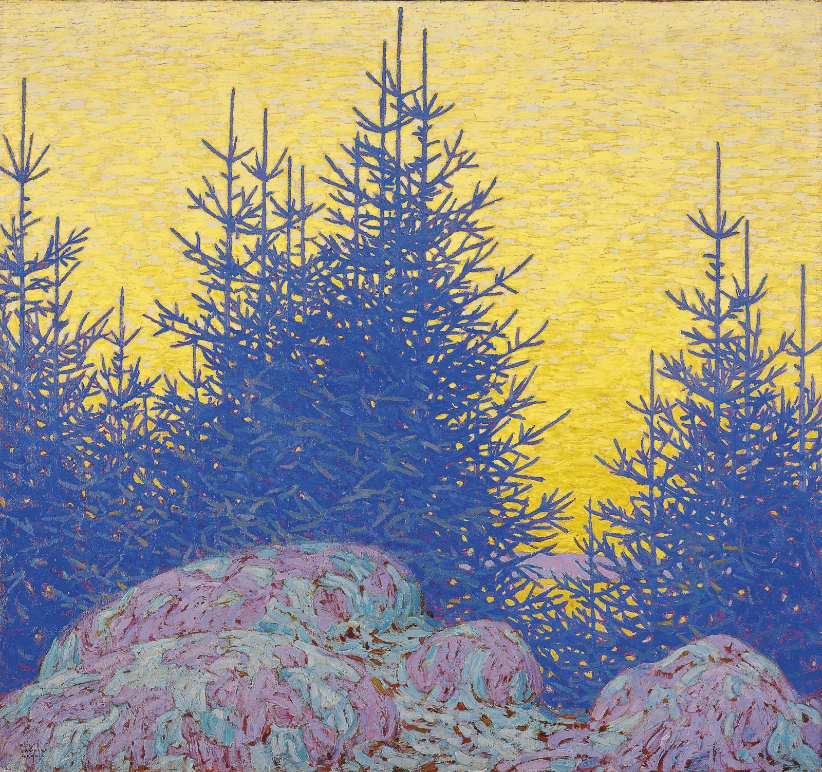 Lawren S.Harris, Paysage décoratif (Decorative Landscape), 1917, huile sur toile, 122,5x131,7cm, Ottawa, musée des Beaux-Arts du Canada.