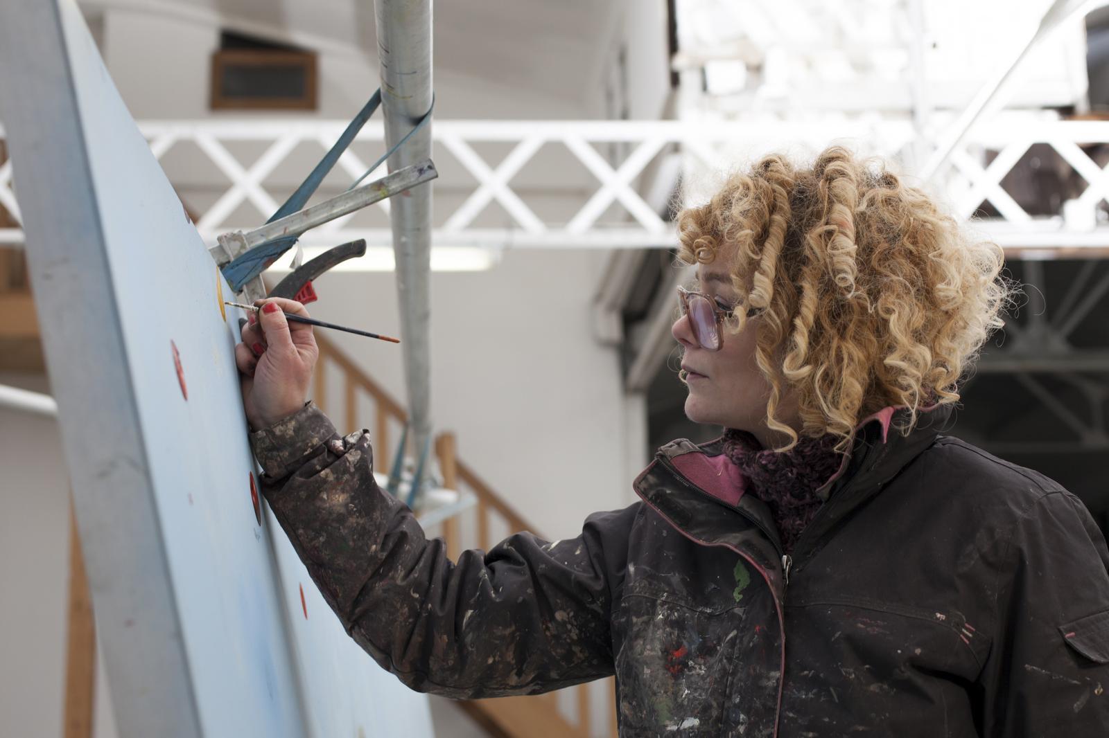 Marlène Mocquet dans son atelier.