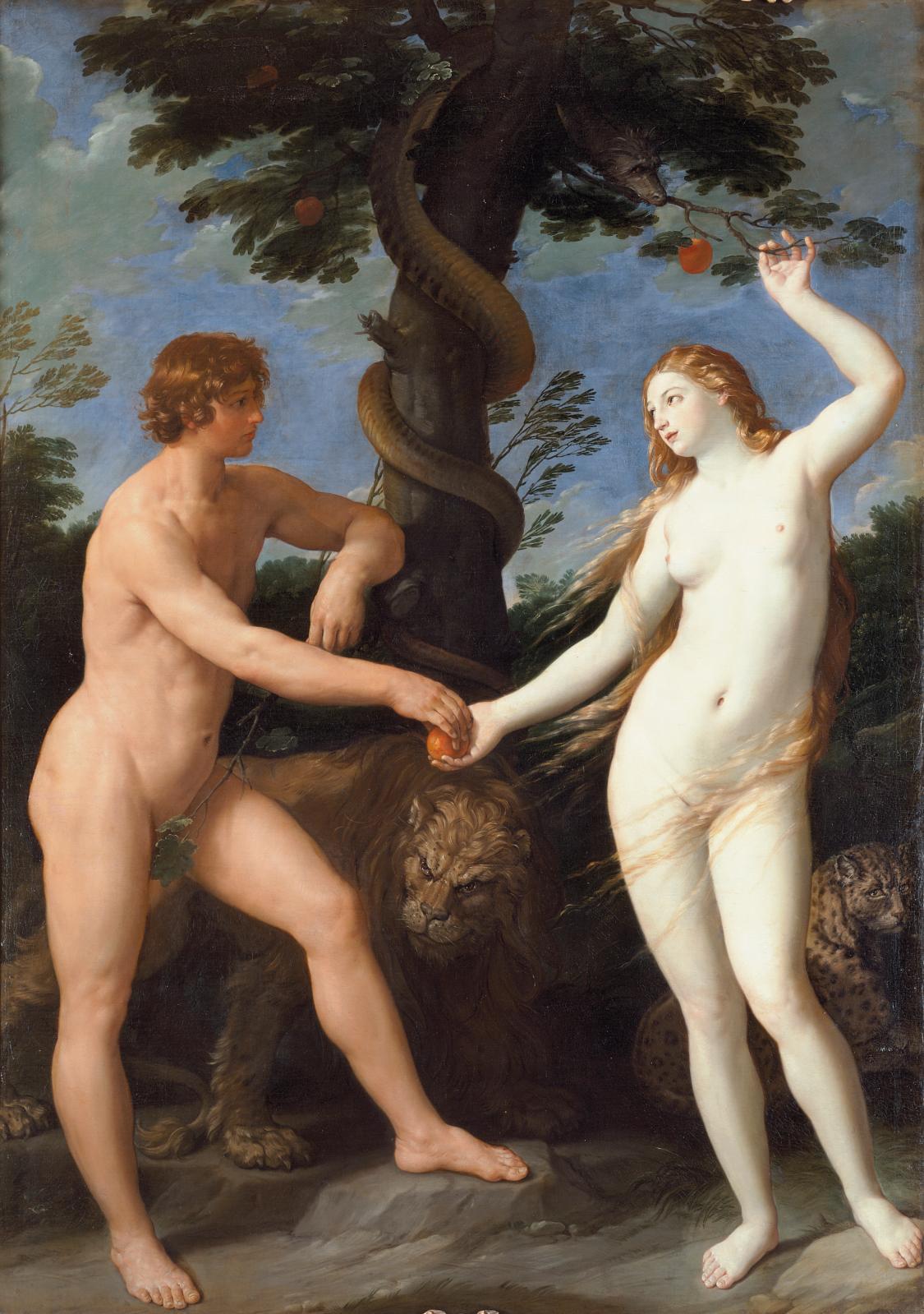 Guido Reni (1575-1642), Adam et Ève au Paradis, vers 1620.