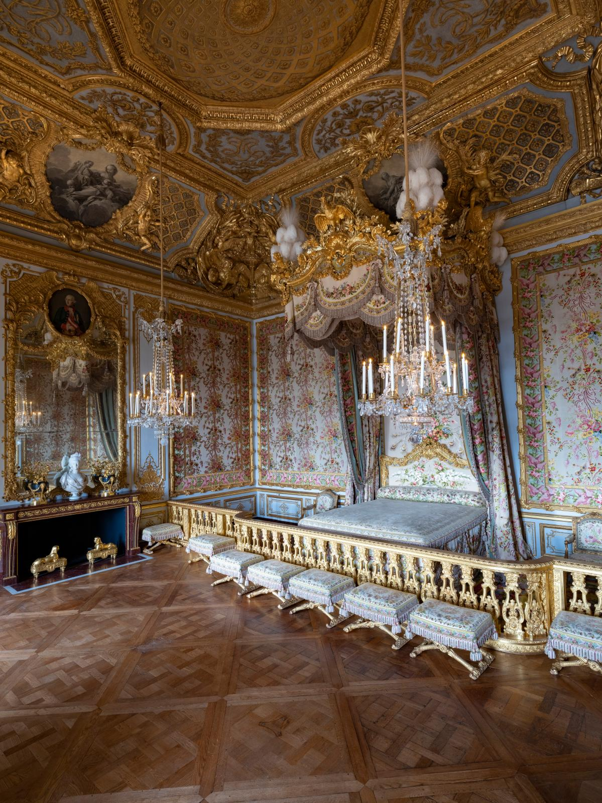Chambre de la Reine restaurée.