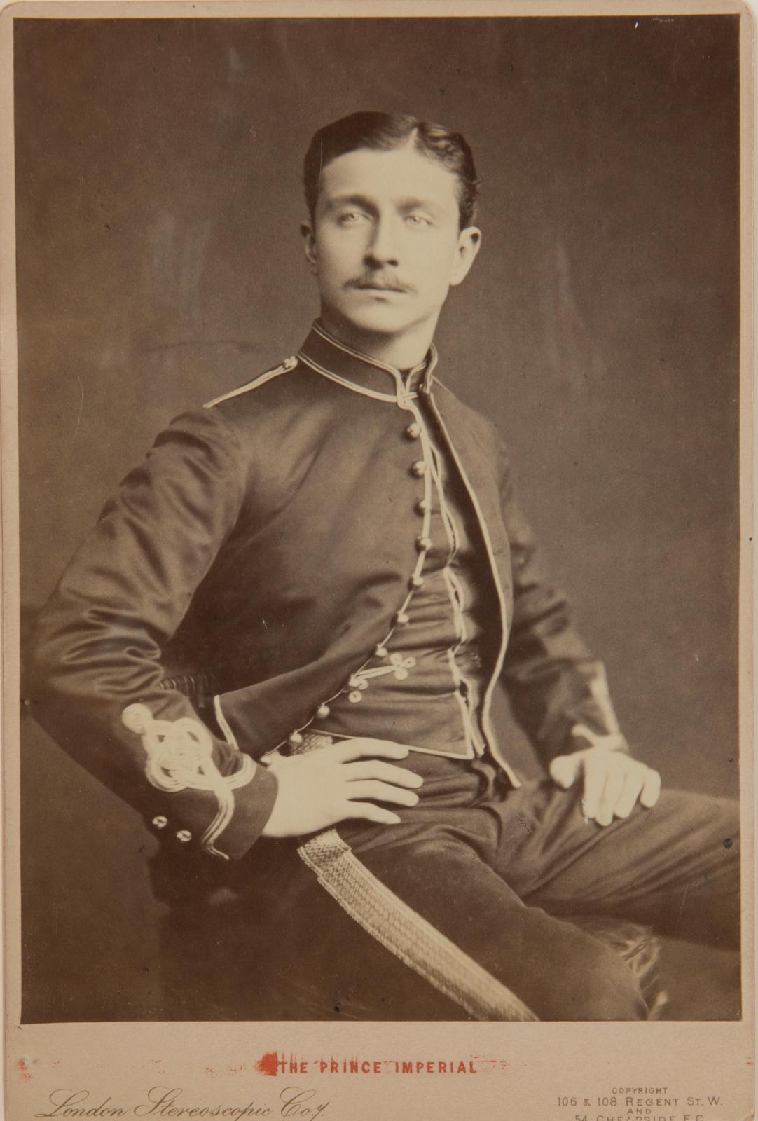 Napoléon IV (1856-1879), prince impérial. Cinq lettres signées, de février 1879; 18pages in-8°, montées sur onglets dans un volume cartonné petit in