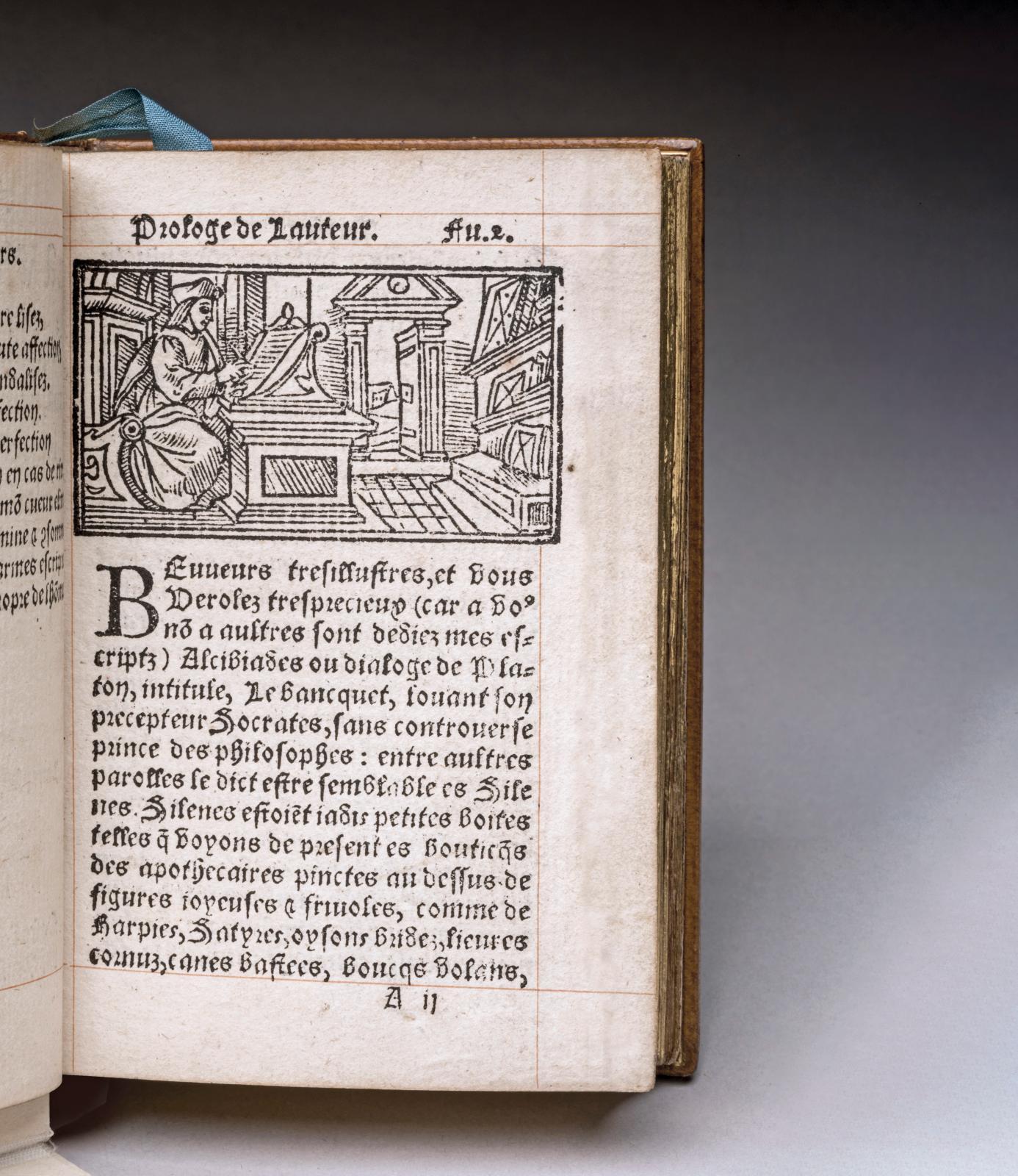 François Rabelais (1483-1553), La Vie treshorrificque du grand Gargantua, pere de Pantagruel […], 1542, Lyon, François Juste, un volume in-16, carré,