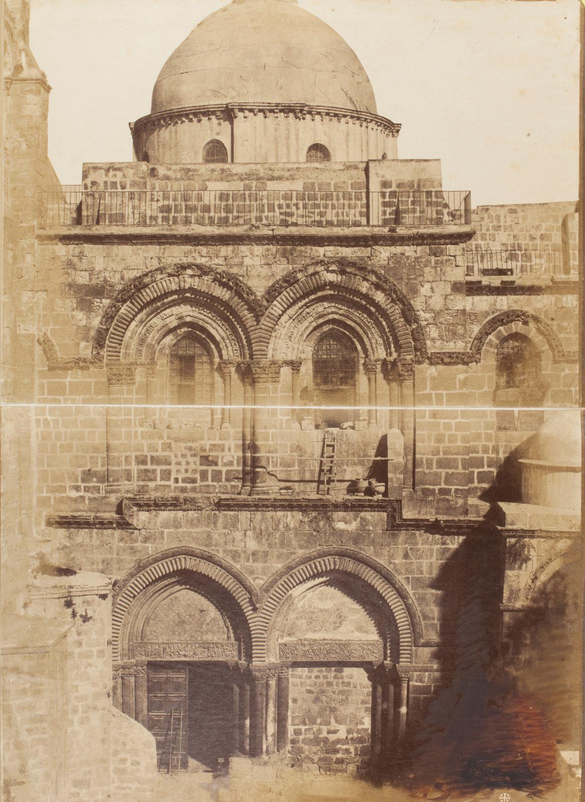 Mendel Diness: Palestine - panorama de Jérusalem, L'église du Saint-Sépulcre (détail).