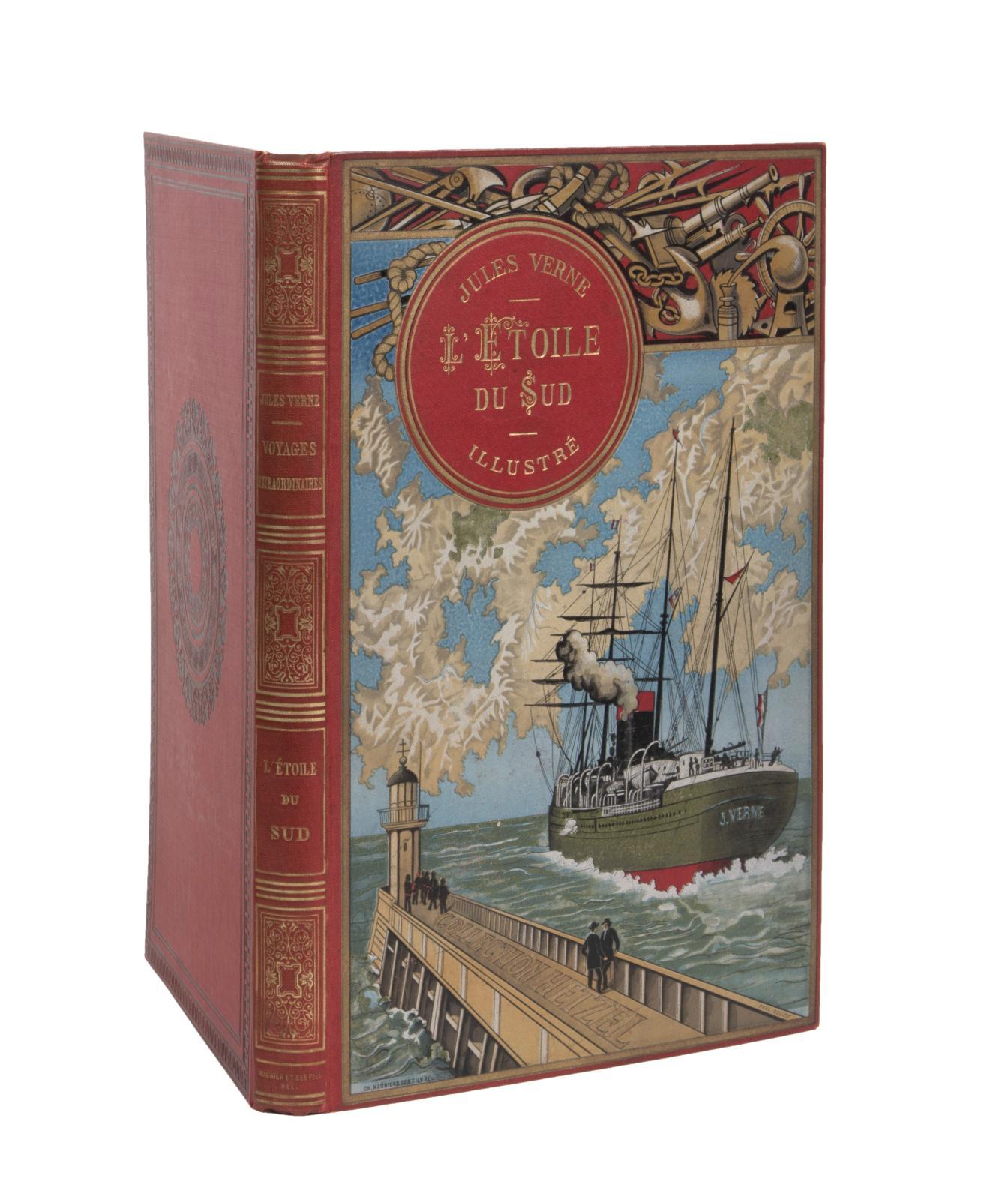 Jules Verne, L'Étoile du Sud, illustrations de Benett, Paris, «Bibliothèque d'éducation et de récréation», J.Hetzel Éditeur, sd[1897], grand in-8° s