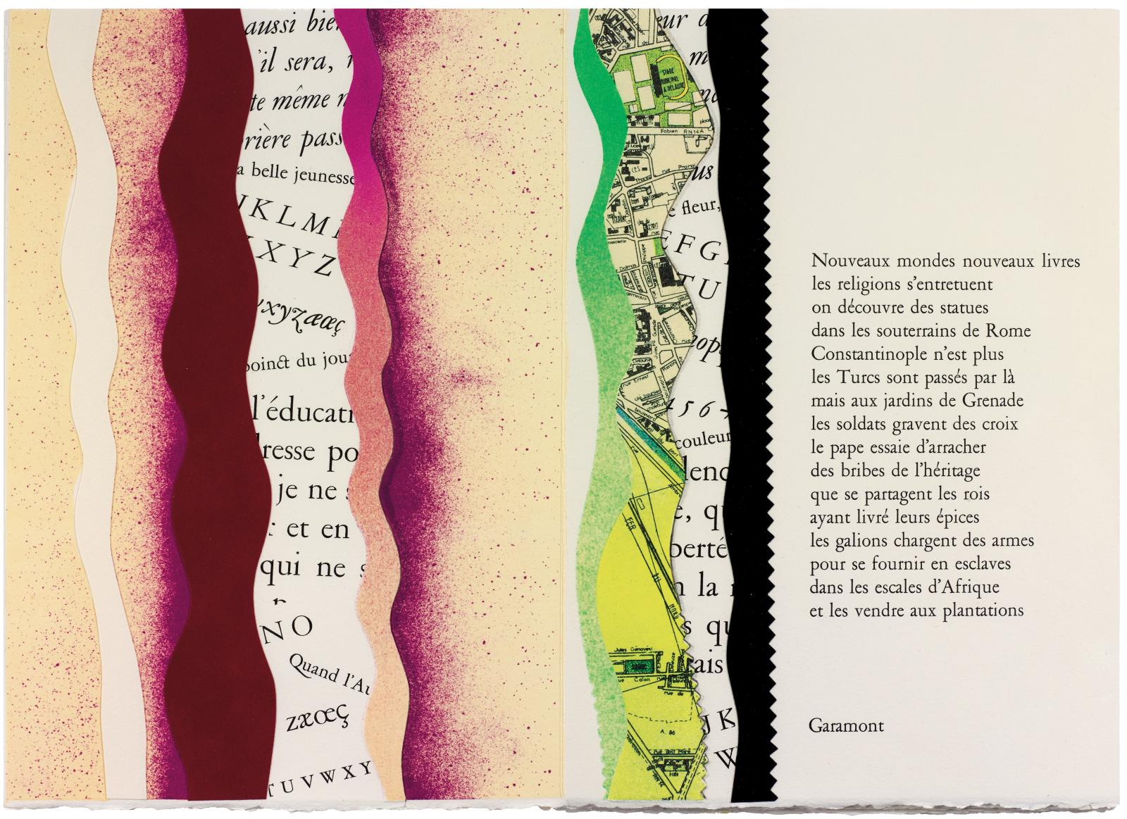 Michel Butor, Caractères, Paris, Imprimerie nationale Éditions, juin 1993, in-4o de 29feuillets montés en accordéon, exemplaire de l'édition original
