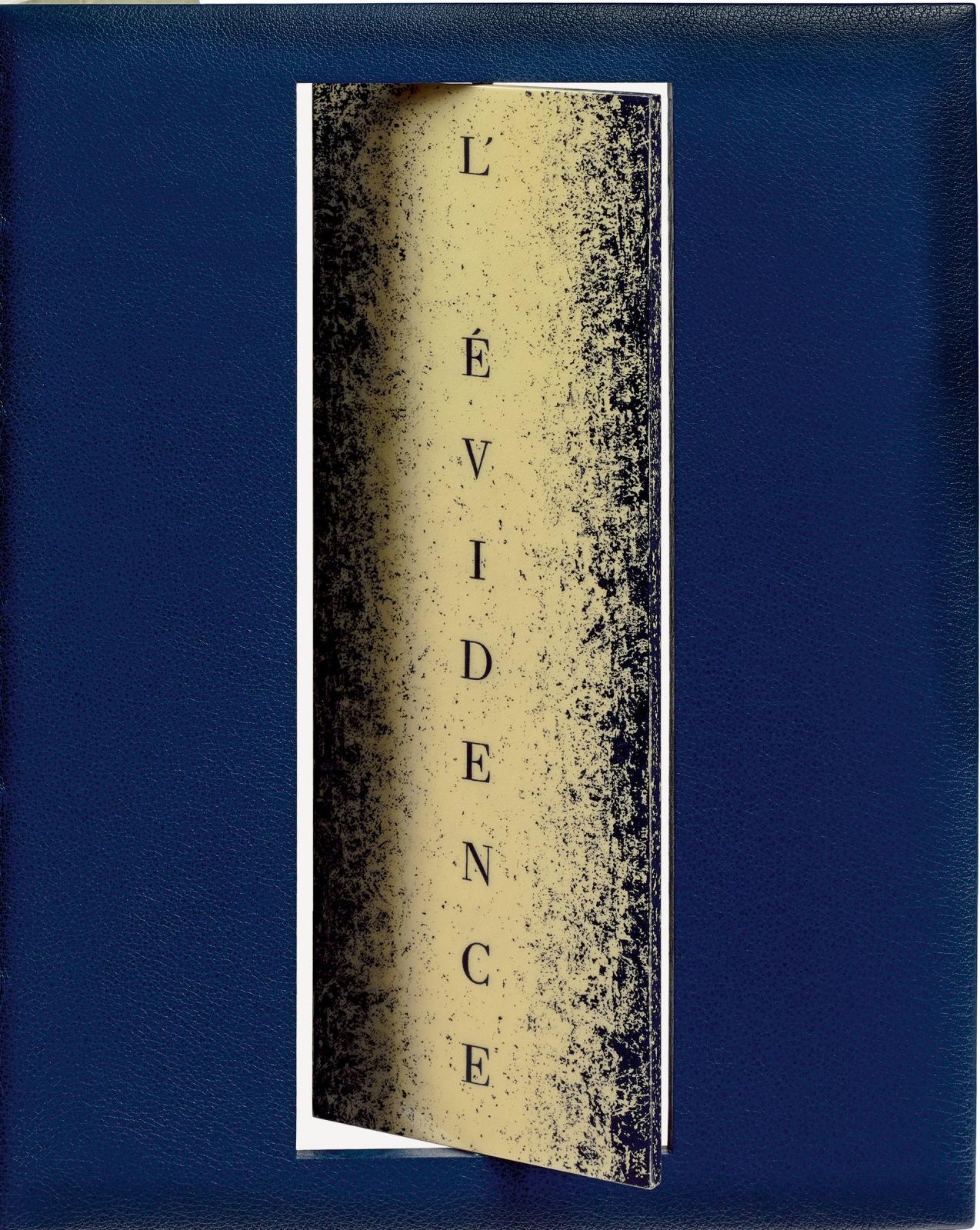 Yves Peyré (né en 1952) et Zao Wou-ki (1920-2013), L'Évidence de la nuit, Genève, Jacques T. Quentin, 13octobre 1991, in-4° monté sur onglets; reliu