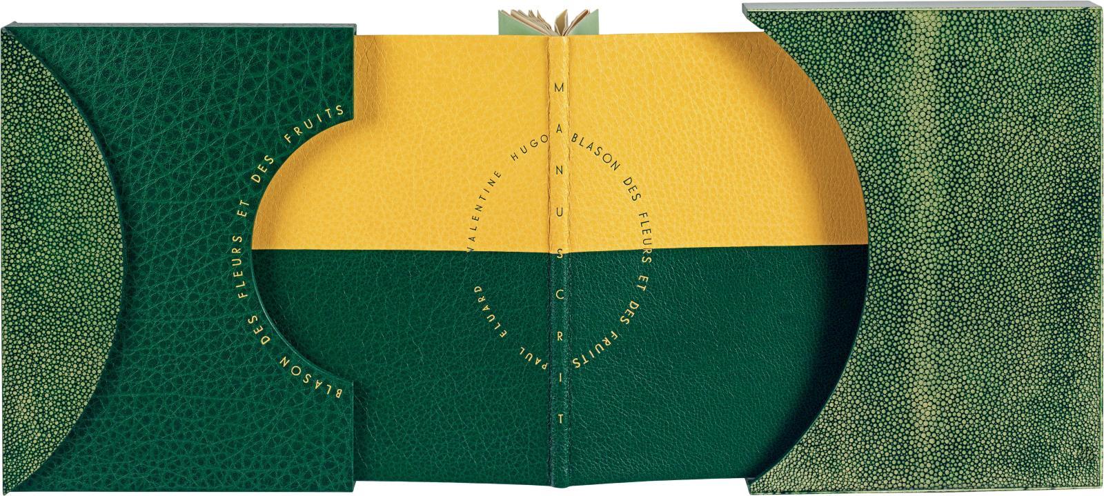 Paul Eluard (1895-1952), Blason des fleurs et des fruits [Manuscrit] (Paris), 25novembre 1940, plaquette in-8o carré, manuscrit autographe; reliure