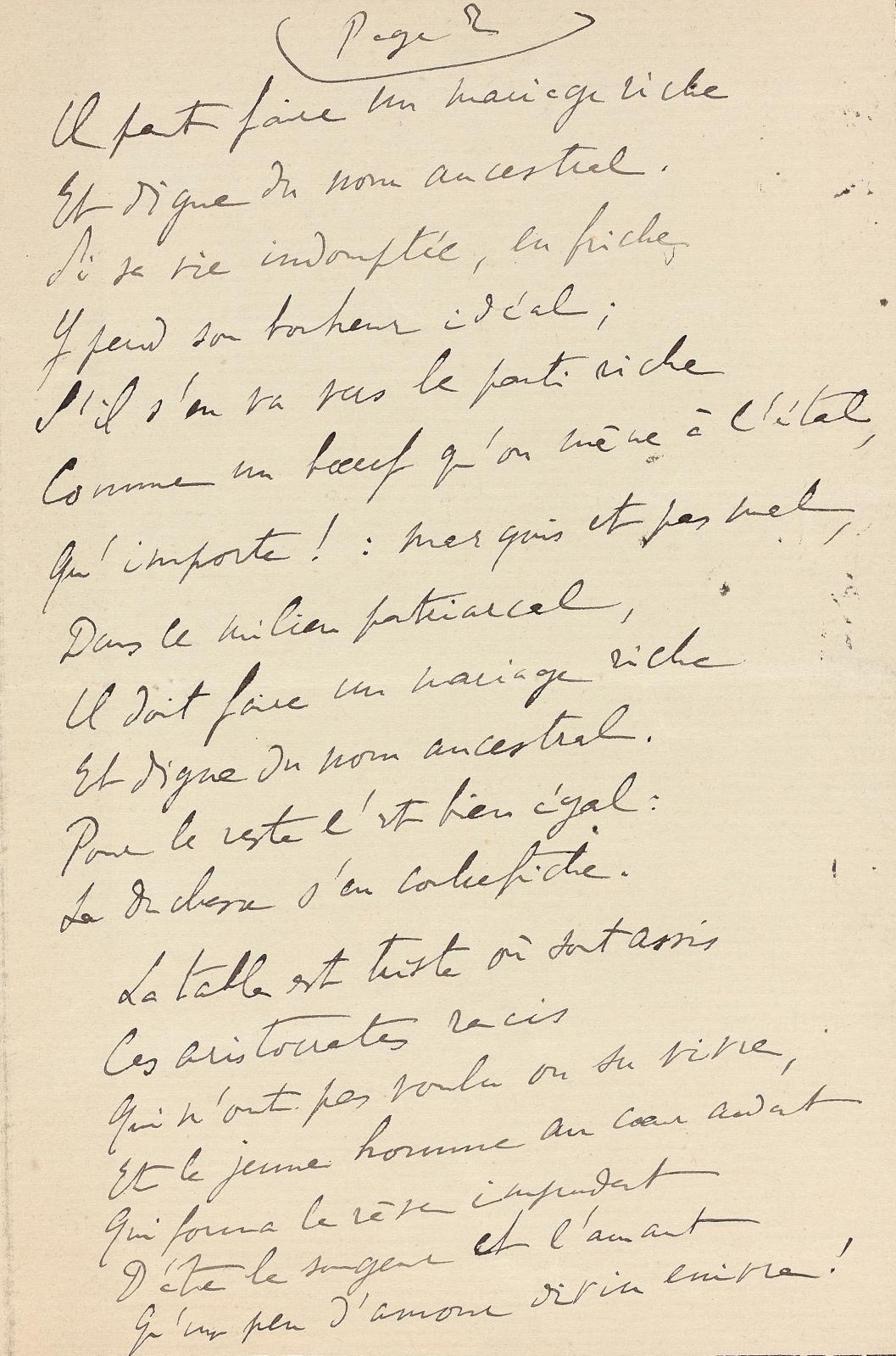 Marcel Proust (1871-1922). Poème autographe [mars ou mai 1904], pastiche de ballade médiévale, 4pages in-8° avec liseré de deuil.