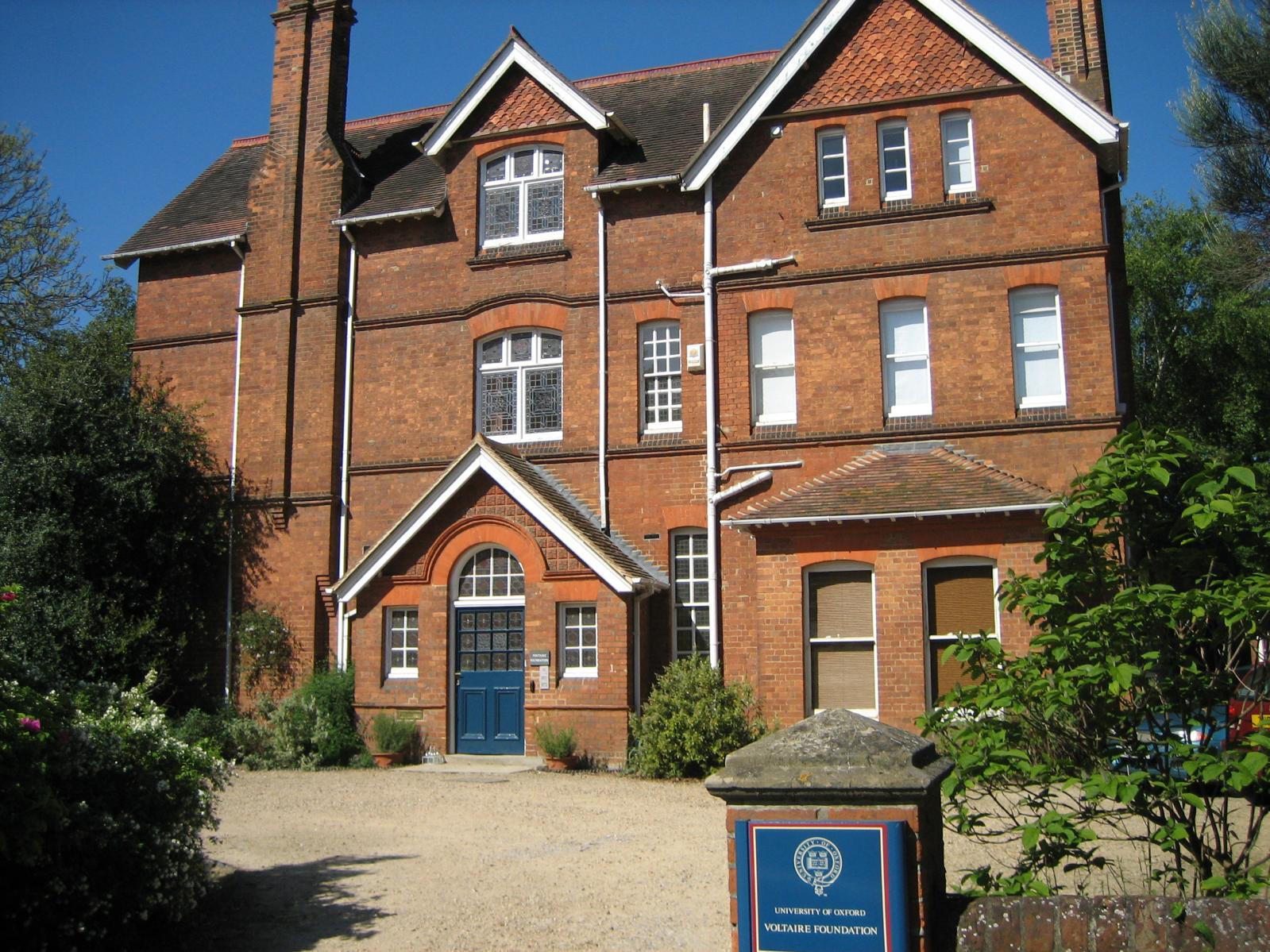 La résidence de la fondation à Oxford.