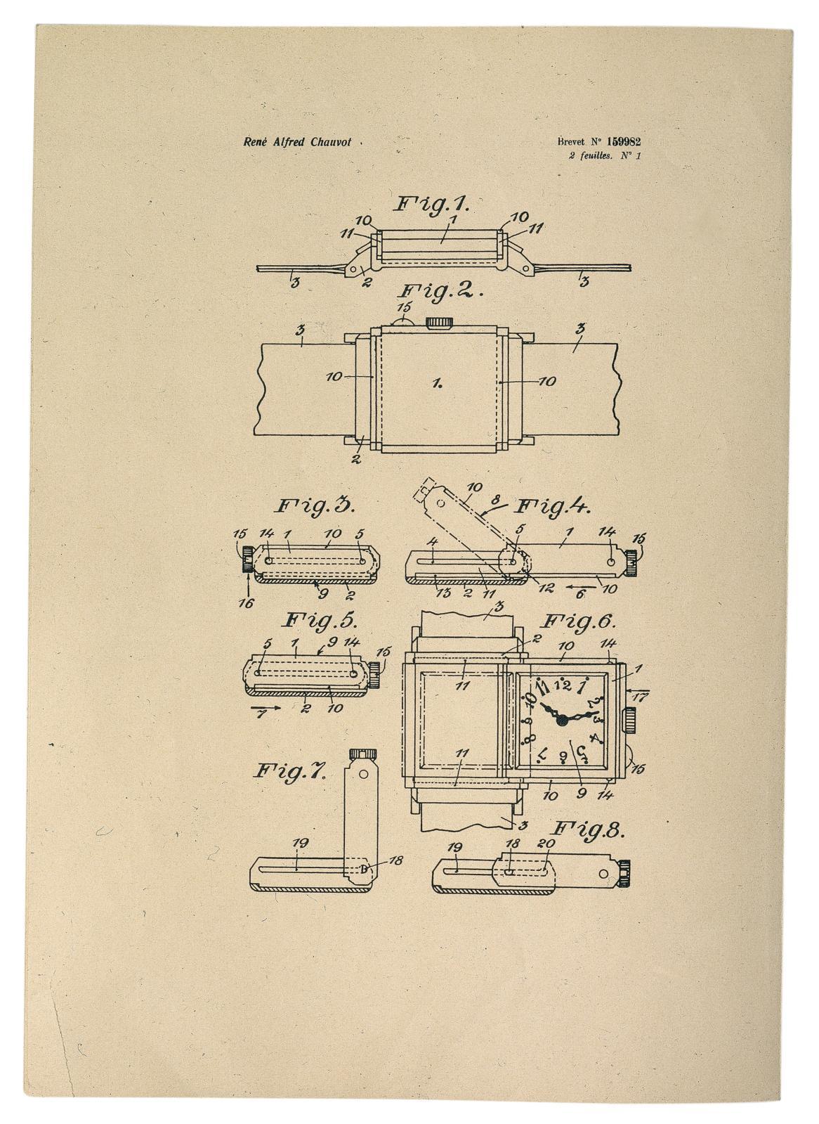 Plan de la montre Reverso.