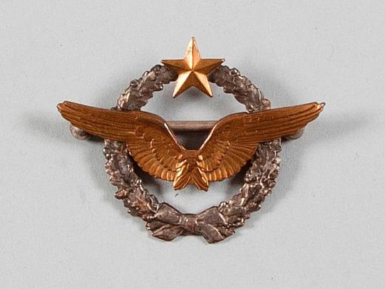 875€Rare insigne de brevet de pilote aviateur militaire français, n°B882, ailes et étoiles dorées, vers1914-1915.Drouot, 25mai2016. AderOVV. M.D