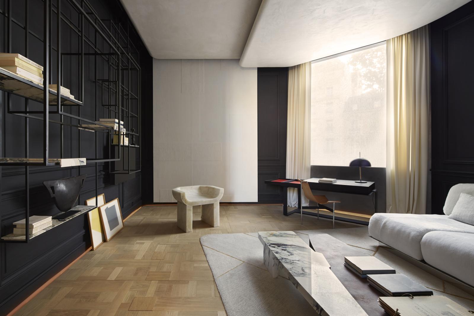 Bismut &Bismut, «Salon d'étude», superpositions pour l'exposition «Àl'avant-garde du style» d'ADIntérieurs, au palais d'Iéna en 2015.