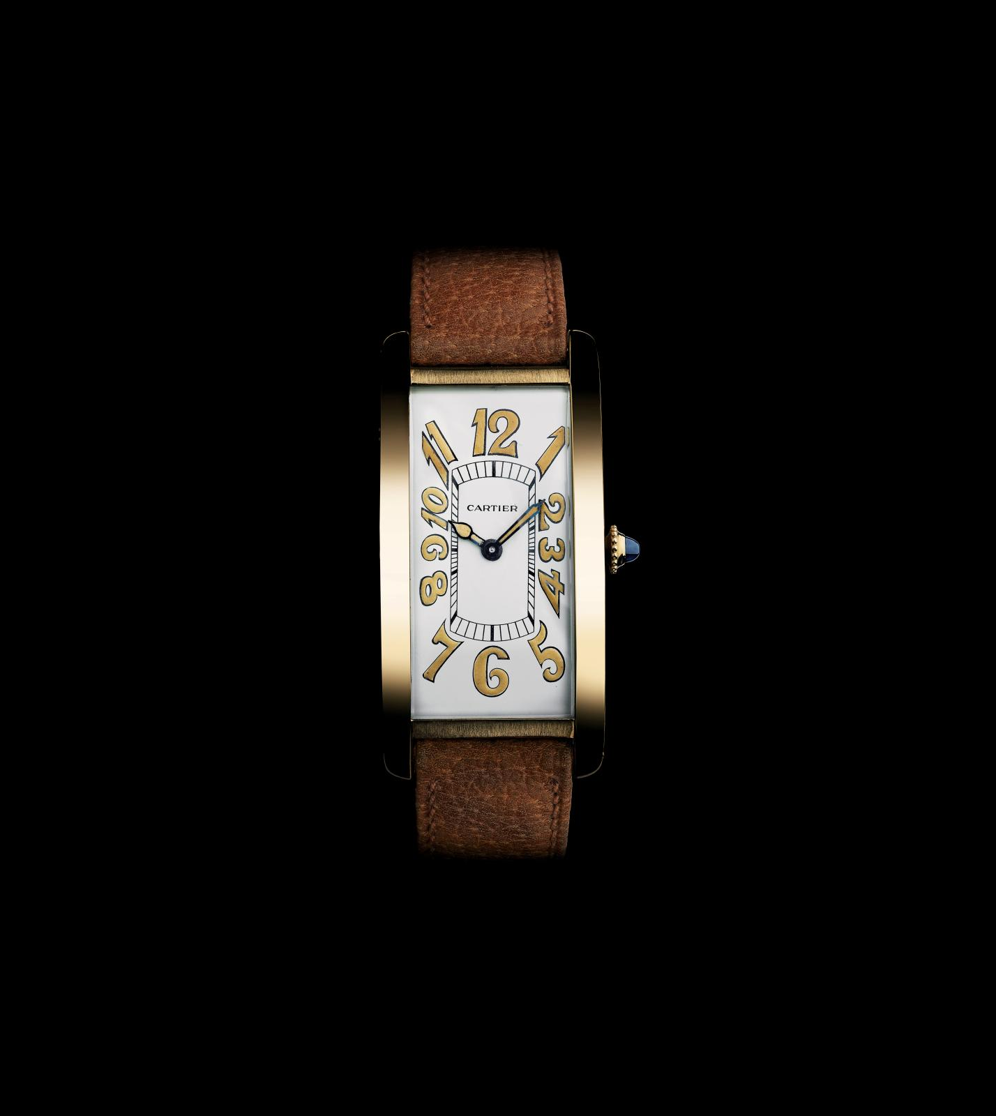 Montre-bracelet Tank cintrée, Cartier, Londres, 1929. Jaeger pour EWC. WCL 113 A29.