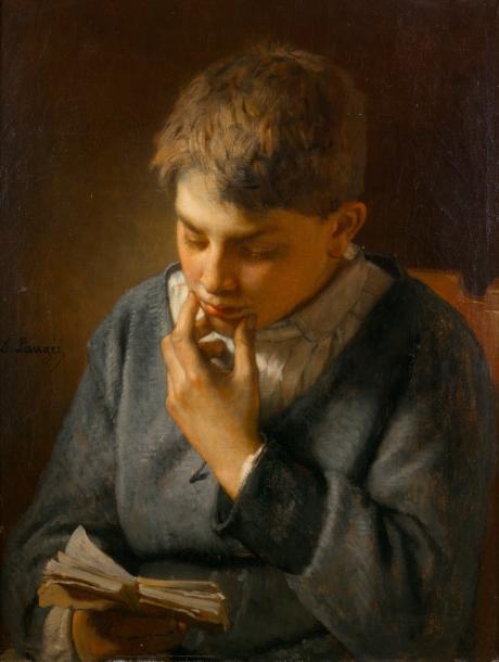 """Désiré Laugée (1823-1896), Portrait de Paul Donatien Malézieux, toile signée """"D. Laugée"""", 51,5x40,5cm. Paris, Drouot, 15novembre2013. Audap-Mirab"""
