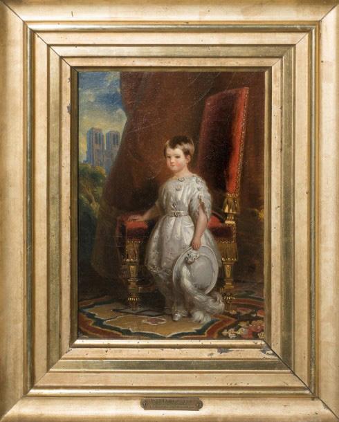 Franz Xaver Winterhalter (1805-1873), Louis Philippe Albert d'Orléans, comte de Paris (…) devant Notre-Dame où eut lieu son baptême le 2 mai 1841, hui