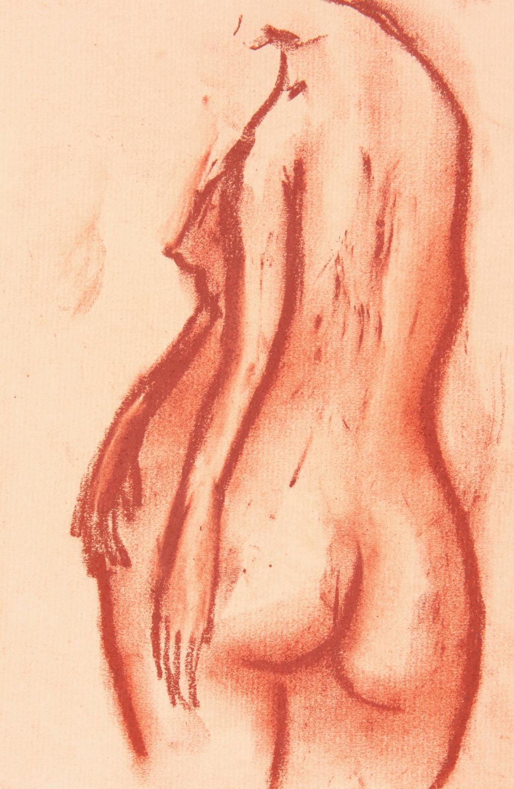 Zao Wou-ki, Sans titre, sanguine, vers 1948, donation Zao Wou-ki au musée Cernuschi.