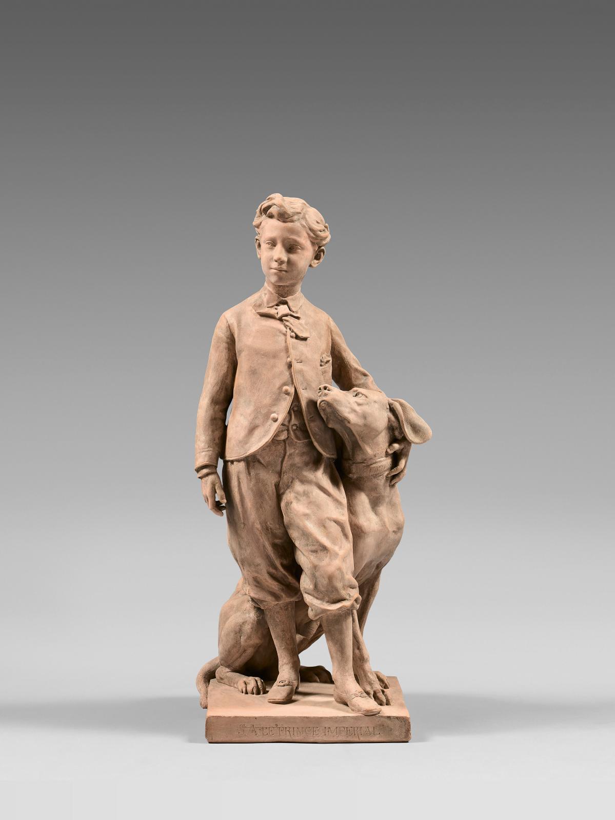 Le sculpteur Jean-Baptiste Carpeaux(1827-1875) a laissé du fils de NapoléonIII des images spontanées, qui ont contribué à laisser de ce jeune garçon