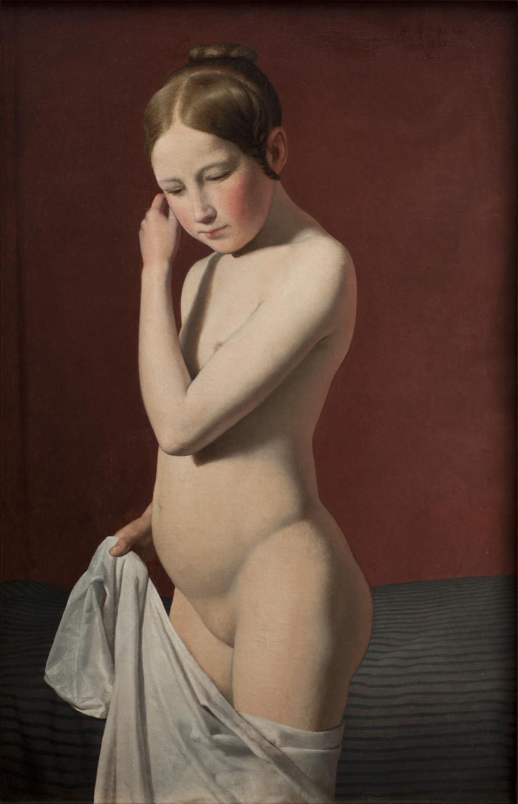 Christoffer Wilhelm Eckersberg, Étude d'après modèle d'une jeune fille de onze ans, Académie royale des beaux-arts du Danemark, conseil de l'Académie,